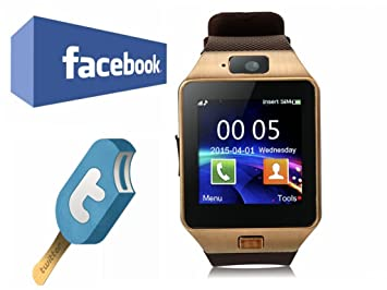 VOSMEP Reloj Inteligente Smart Watch Bluetooth 3.0 Teléfono Inteligente Pulsera Pantalla Cámara Táctil para Android Samsung HTC LG Huawei Xiaomi Reloj ...