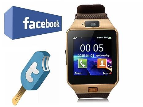 5621fd2999f25 VOSMEP Reloj Inteligente Smart Watch Bluetooth 3.0 Teléfono Inteligente  Pulsera Pantalla Cámara Táctil para Android Samsung