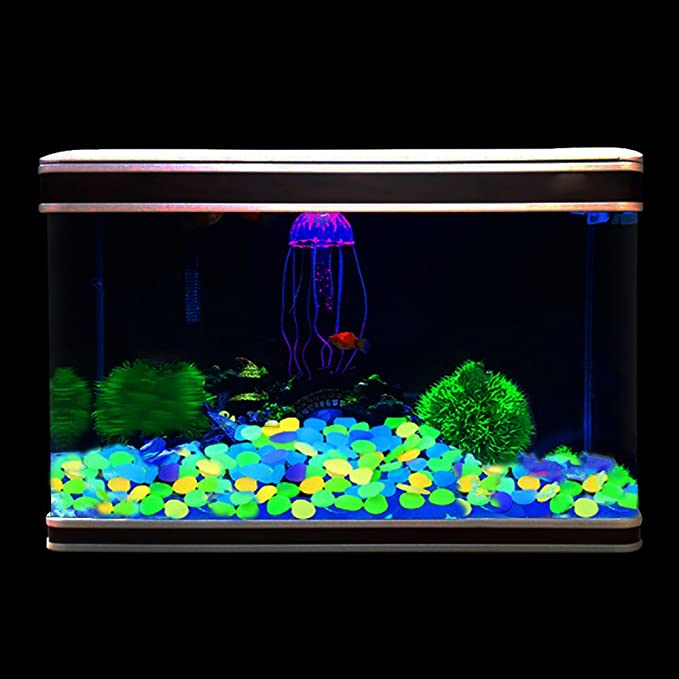 Amazon.com : RETON 500 Pcs Man-Made Glow Pebbles Stone Luminous Decorative Stones for Garden Walkway Yard & Fish Tank Decorative Stones (Mixed Colors) ...