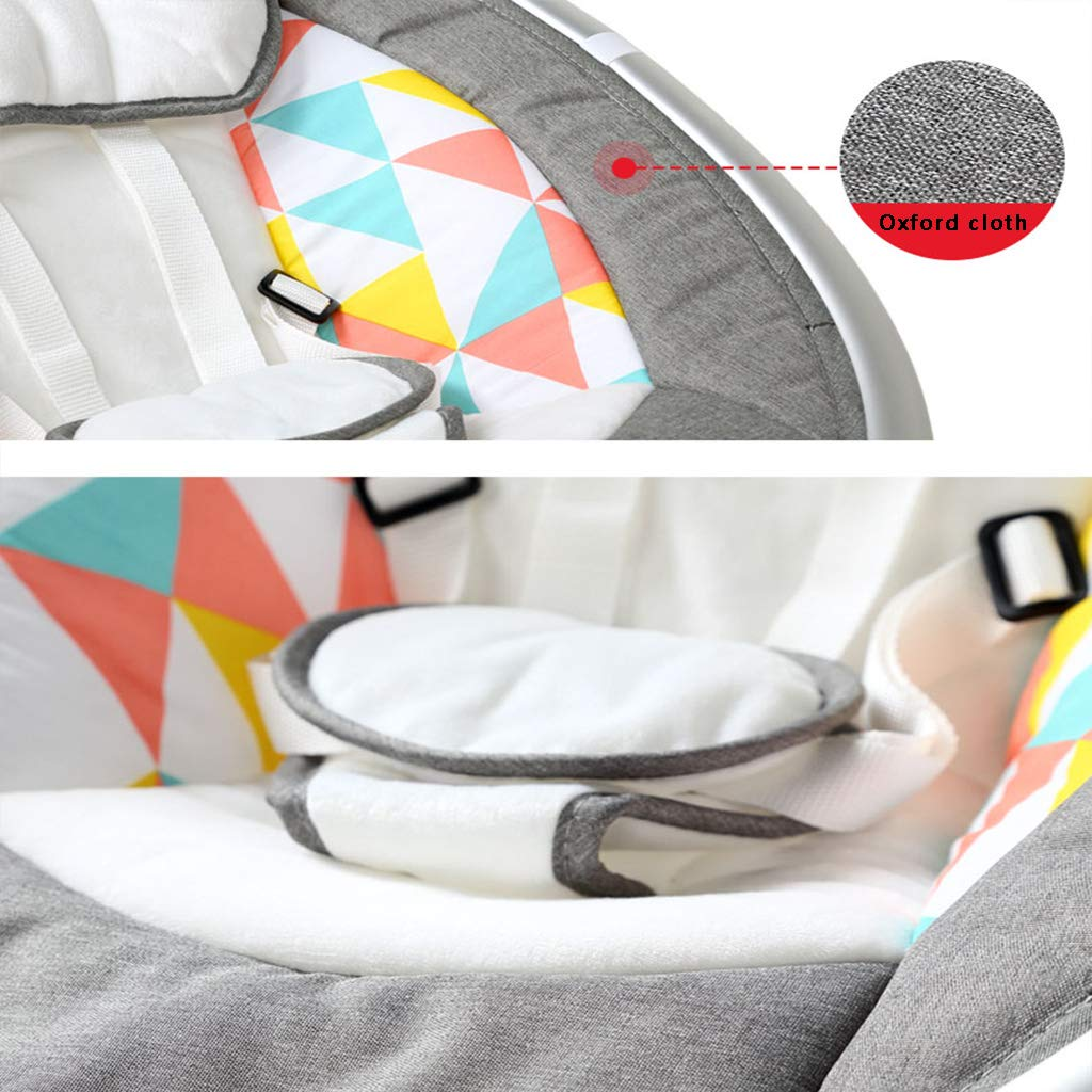 AIBAB Baby Wippe Baby-Elektrischer Intelligenter Schaukelstuhl Mit Moskitonetz F/ünf-Geschwindigkeit Schwingen Stummer Drahtloser Bluetooth USB-Musikbaby-Komfortstuhl