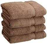 Superior 900 GSM Luxury Bathroom Hand Towels, Made of 100% Premium Long-Staple Combed Cotton, Set of 4 Hotel & Spa Quality Hand Towels - Latte, 20'' x 30'' each