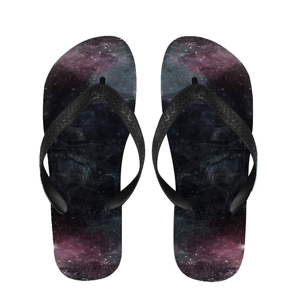BrowneOLp Flip Flops Aqua Abstract Sandals Beach Slippers for Men//Women