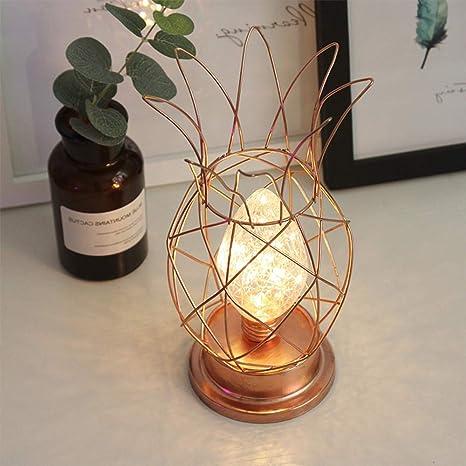 Wankd Lamparas a pilas, Lámpara de mesa, LED, Metal, Oro ...