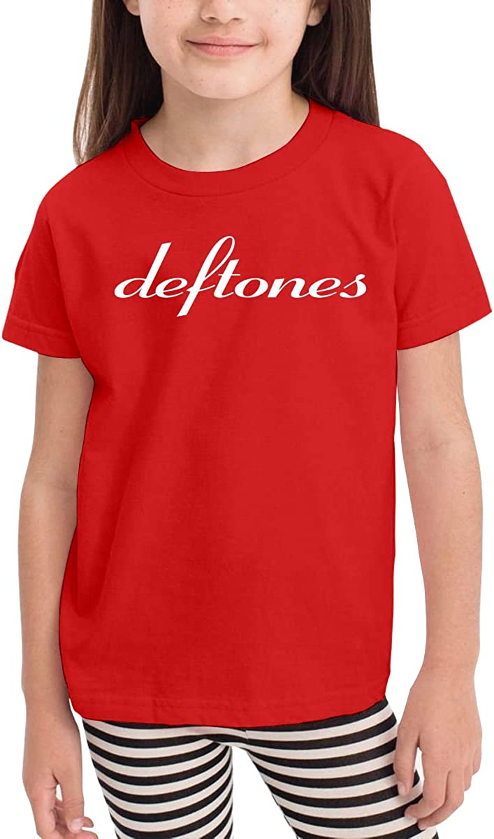 Kids T-Shirt Tops Black Custom Deftones Unisex Youths Short Sleeve T-Shirt