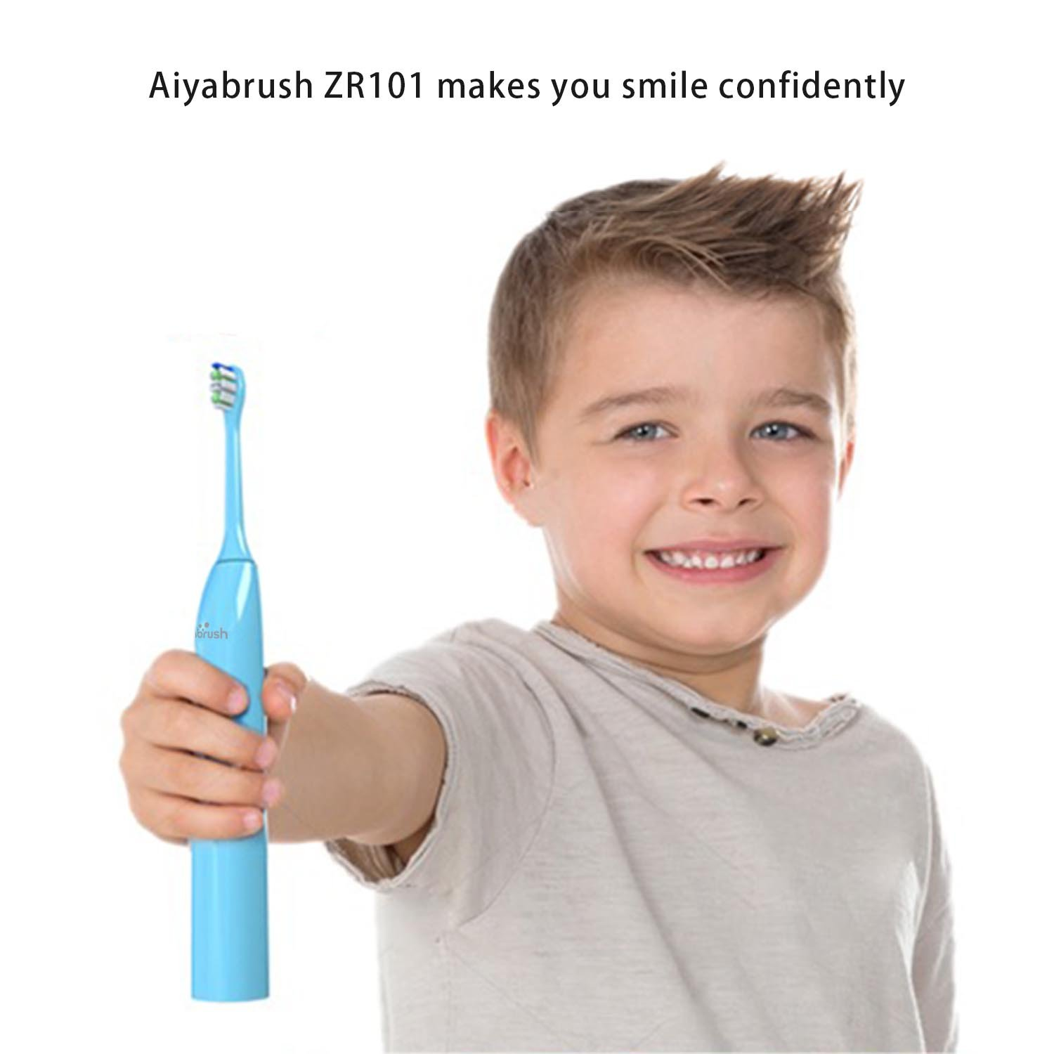 Sonic Electric Toothbrush for Kids 3-12 Years Aiyabrush 30s brushing reminder Rechargeable Toothbrushes with 2000mAh capacity battery 100 Days Use on One Charge waterproof IPX7 (Blue) by aiyabrush (Image #8)