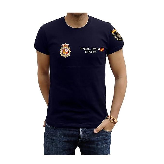 Piel Cabrera Camiseta de Policía Nacional  Amazon.es  Ropa y accesorios ec28707553a21