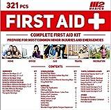 M2 BASICS 321 Piece Emergency Survival First Aid