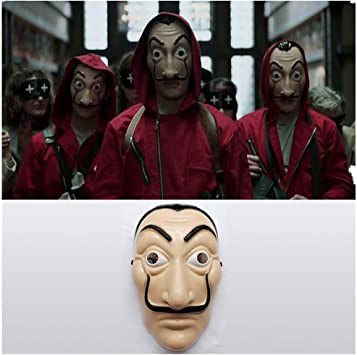 La Casa CE Papel, Máscara Dali Mask Dali Plástica Mascarilla Dali Careta Cosplay Realistic Cosplay Máscara de Fiesta: Amazon.es: Juguetes y juegos