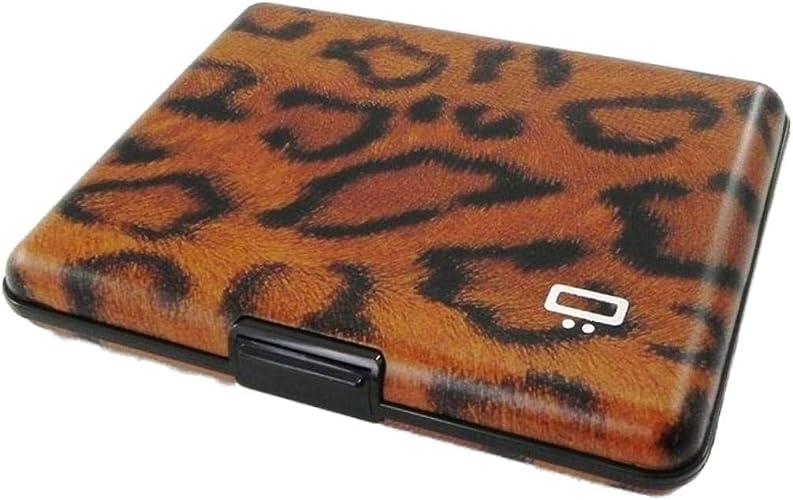 PRINTED CARBON NEW from France Ogon Designs Big Stockholm Aluminum Wallet