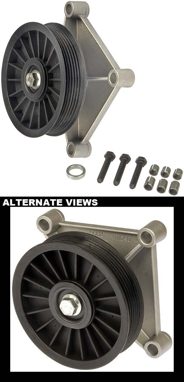 APDTY 45206 Air Conditioner Bypass Pulley For Frozen Locked Failed AC Compressor