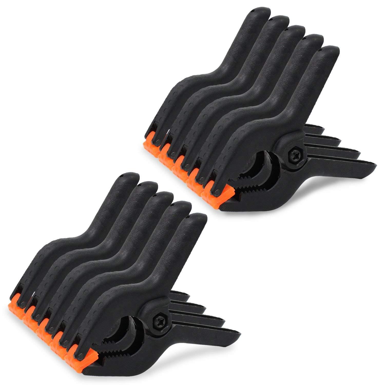 Abrazaderas de fondo negro de nylon Abrazaderas 3 Inch,Paquete de 10