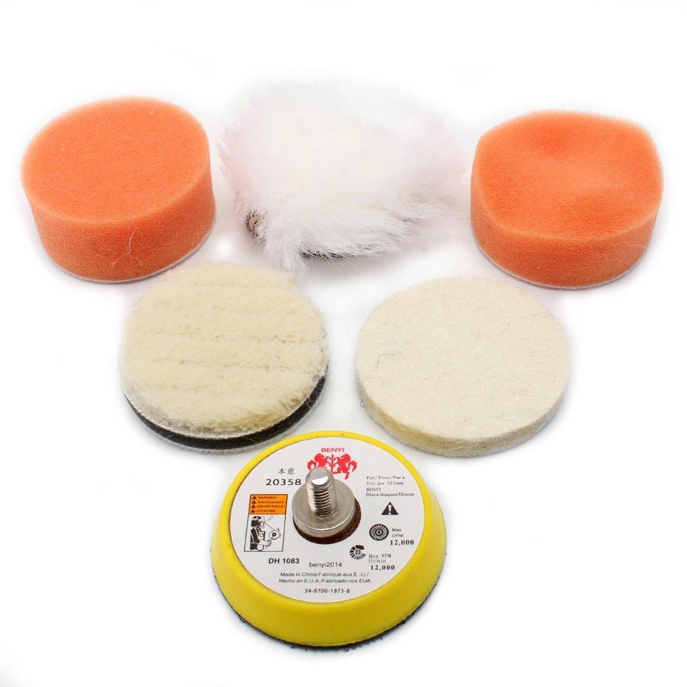 2'' Polishing Pads Sponge Waxing Buffing Kit for for Car Polisher Boat Polishing,Motocycle Sanding, Polishing, Waxing SHUQIU