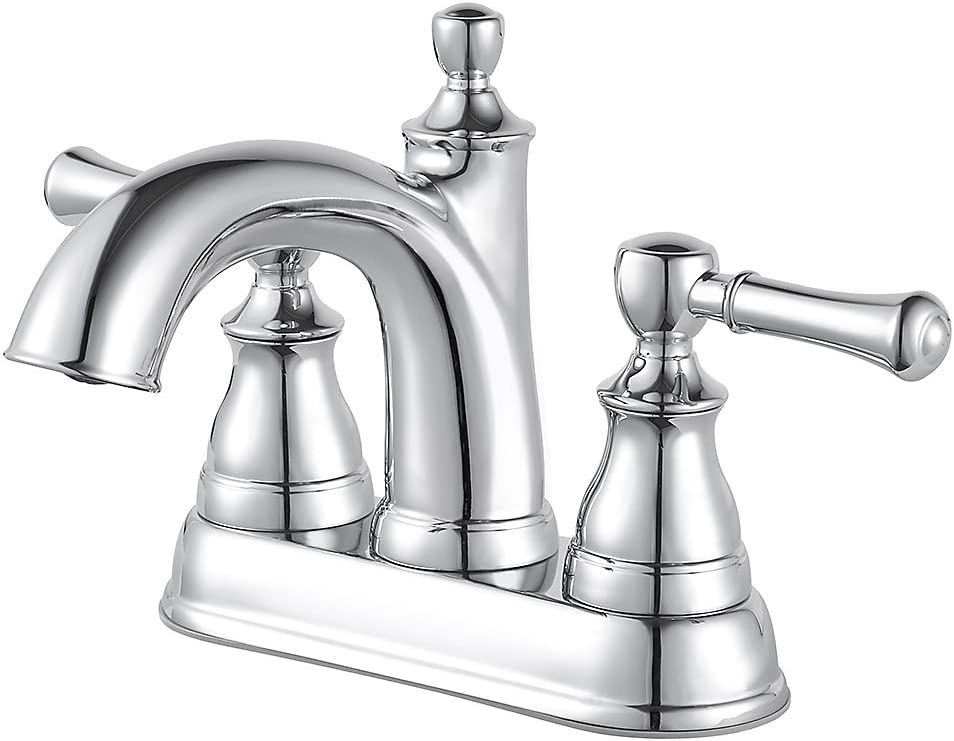Pfister Autry 4 Inch Centerset 2 Handle Bathroom Faucet, Polished Chrome