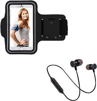 Pack Deportivo para ZTE Blade V10 Vita Smartphone (Auriculares Bluetooth Metal + Brazalete) Courir T7 (Negro): Amazon.es: Electrónica