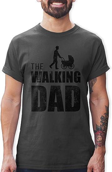 Shirtracer Cadeau danniversaire et de f/ête des p/ères pour Papa Walking Dad Tshirt pour Homme