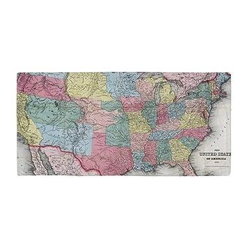 Toalla de playa grande con diseño de mapa de los Estados Unidos (1853) de estilo vintage, suave, de 31 x 51 pulgadas: Amazon.es: Hogar