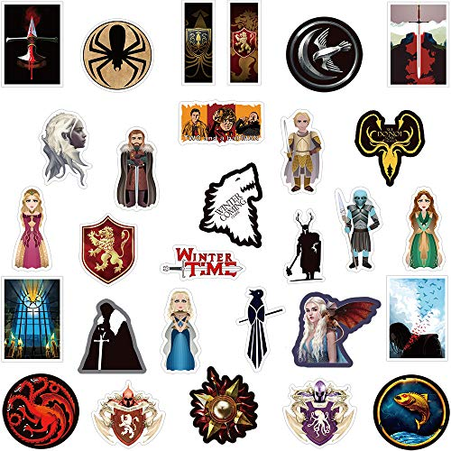 TV Drama Program Sticker Pack [100 pcs] Vinyl Stickers for Water Bottles,Skateboard,Bike,Luggage,PS4,Xbos one,iPhone,Laptop-Party Favors for Adults,Teens,Boys and Girls-Graffiti Decal-Waterproof