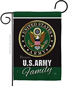 Breeze Decor Army Proudly Family Garden Flag Armed Forces Rangers United State American Military Veteran Retire Official Small Decorative Gift Yard House Banner Double-Sided Made in USA 13 X 18.5