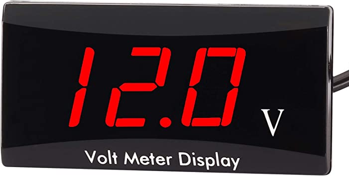 12V Car Motocycle Gauge Panel LED Digital Display Voltmeter Green//Red//White