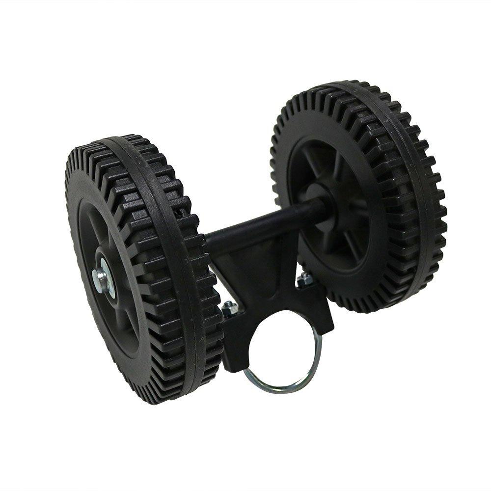 Sunnydaze Hammock Stand Mobile Wheel Kit, Portable and Heavy-Duty, Black