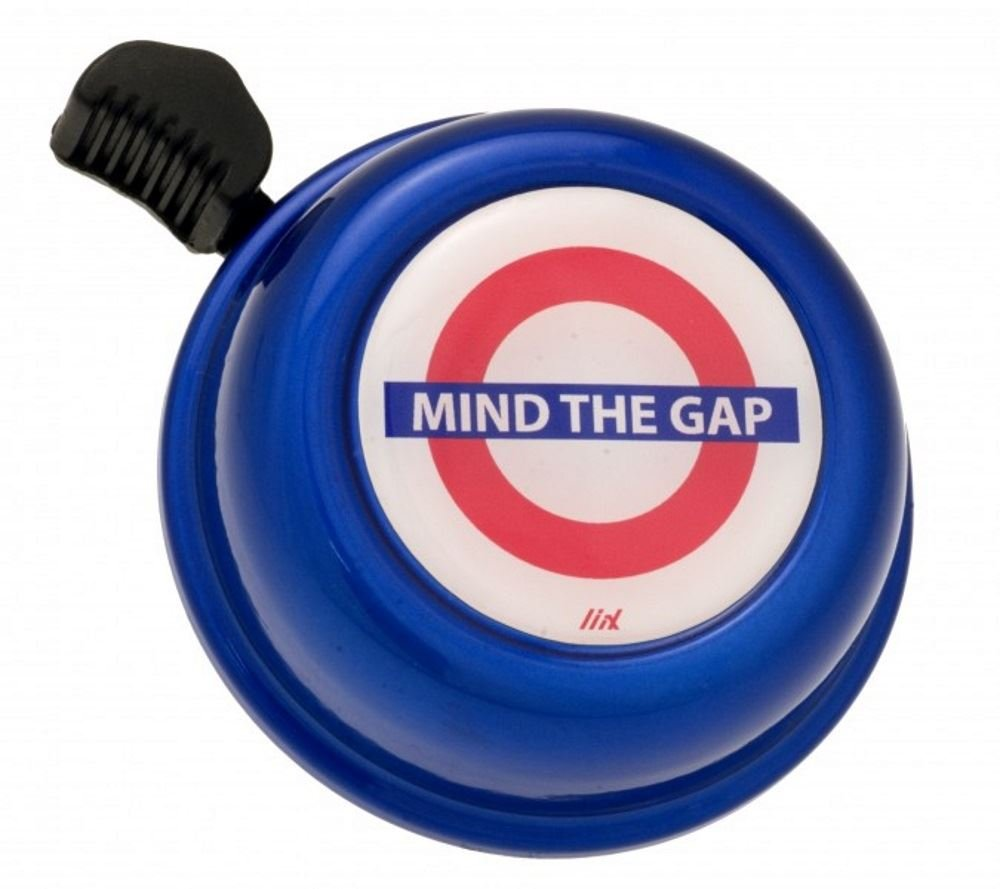 Liix Bike Cycle Bell in Mind the Gap in Blue Design