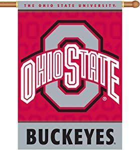 NCAA Ohio State Buckeyes 2-Sided House Banner Flag Wall Scroll