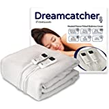 Dreamcatcher Superking Premium Polar Fleece Heated Electric Under Blanket With LED Colour Dual Controllers, Machine Washable, Timer, 8 Comfort Settings, Size 180 x 200cm