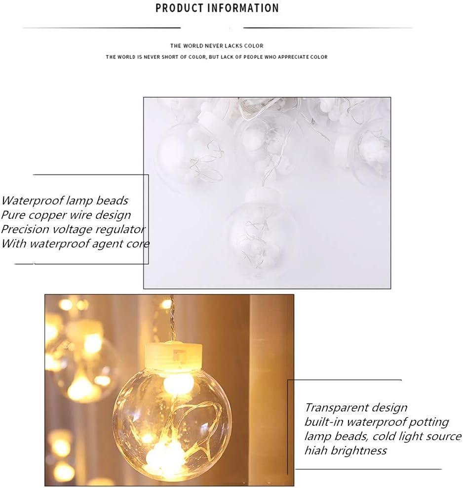 Luces De Hadas De Cortina LED Enchufables, Luces De Navidad, Decorativas De Navidad, Alimentadas Para Interiores Al Aire Libre, Dormitorios, cenadores, fiestas, Jardines Luces De Cadena (G): Amazon.es: Iluminación