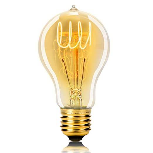 wedna Vintage Edison Bombilla E27 60 W A19: Amazon.es ...