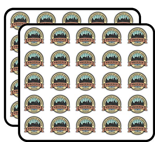 Phoenix City Arizona USA Label Art Decor Sticker