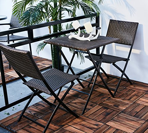 Folding Garden Furniture Grand patio parma rattan patio bistro set weather resistant outdoor grand patio workwithnaturefo