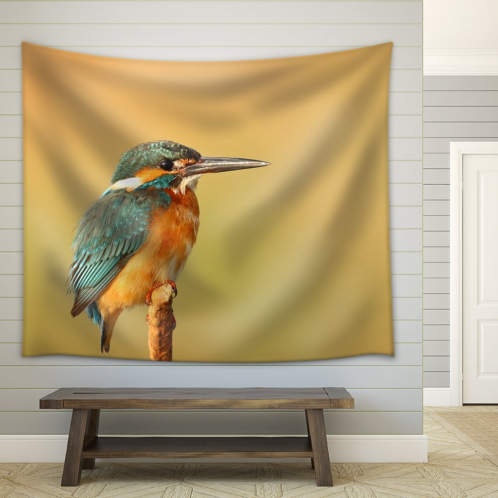 Closeup of a Bird Stand on The Branch Fabric Wall - Tapestry | Wall26