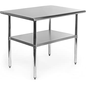 Amazon Gridmann NSF Stainless Steel Commercial Kitchen Prep Enchanting Stainless Steel Work Table With Backsplash Design