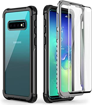 AICase Coque 360 Samsung S10 Plus,de qualité Militaire,Coque de Protection Intégrale Antichoc avec Protecteur d'écran Intégré pour Samsung Galaxy S10 ...