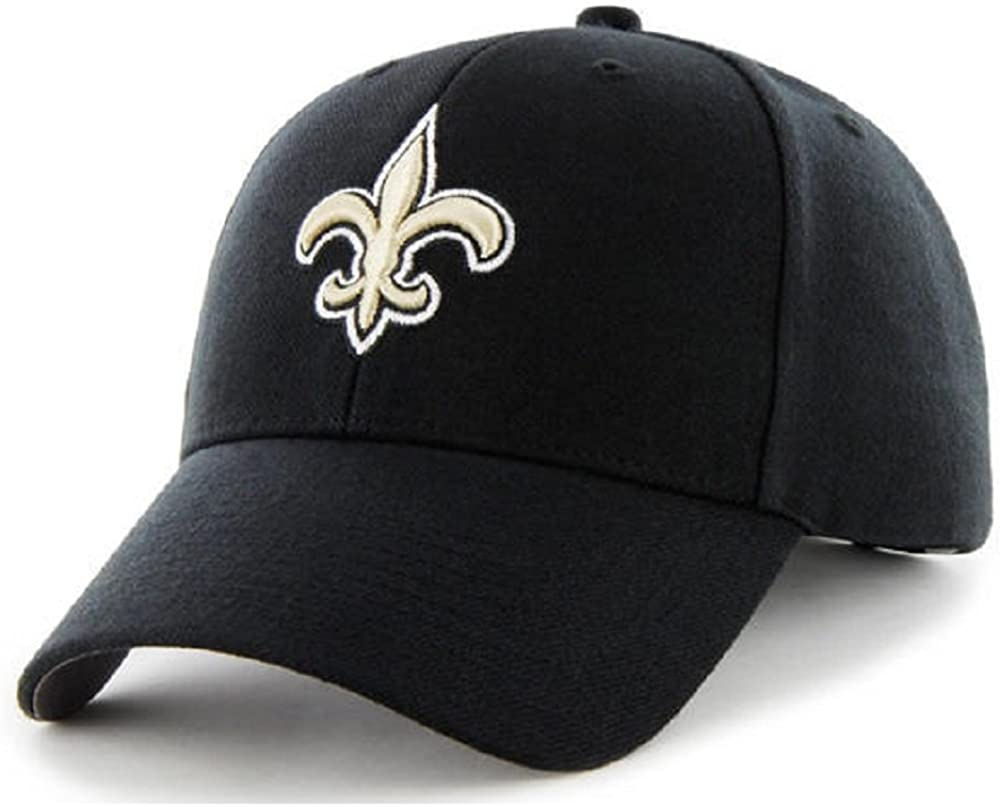 47 New Orleans Saints NFL Brand Basic Black MVP Adult Mens Adjustable Hat Cap