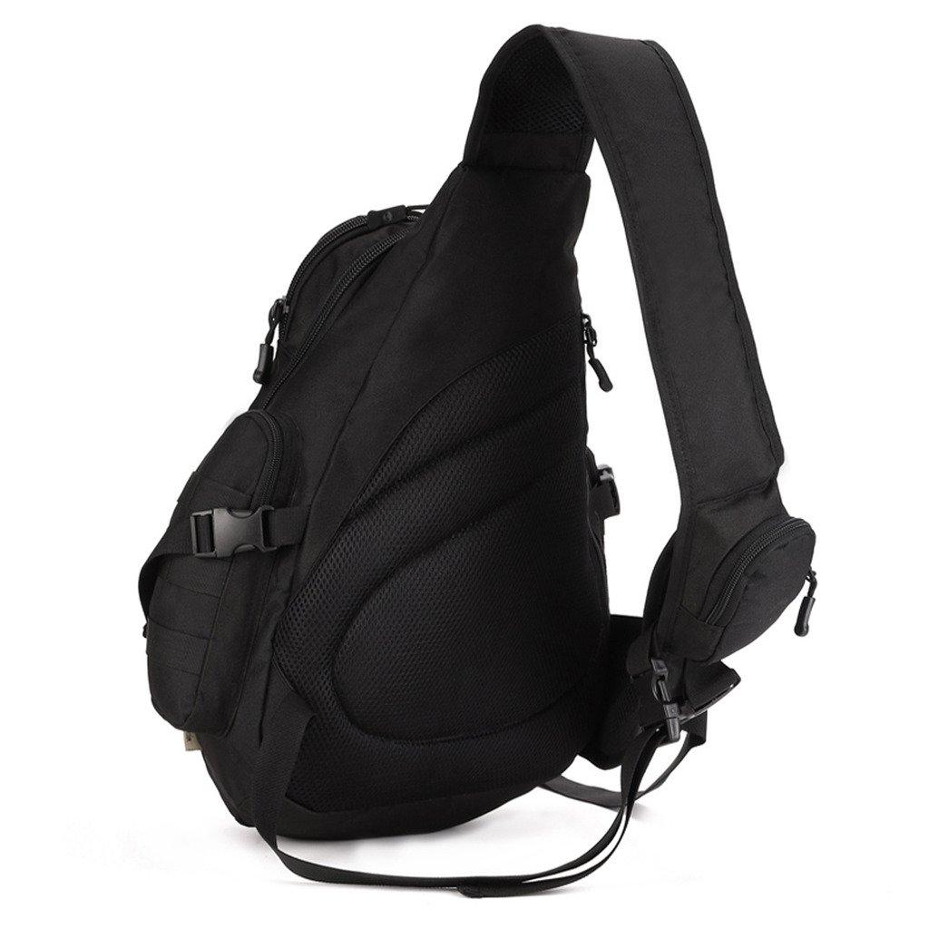 Skysper Bolso Bolsa de Hombro Bandolera Pecho Mochila Ajustable Nylon para Hombre Deporte al aire libre Viaje T225;ctico Casual