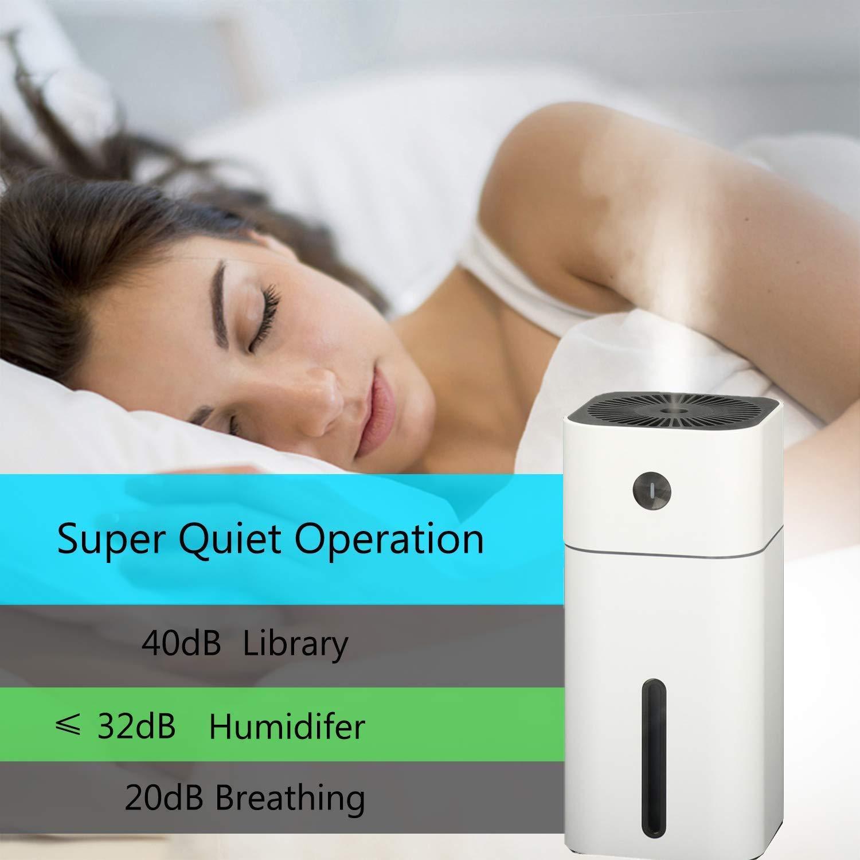 silencioso con 7/colores luces LED USB humidificador de aire casa port/átil para c/ámara oficina 180/ml azul Humidificador beb/é con dos modos de pulverizaci/ón regalo de vacaciones coche