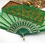 Geen 10Pcs/Lot Spanish Style Plastic Lace Folding Hand Held Flower Fan Dance Fan Decoracion Ornaments