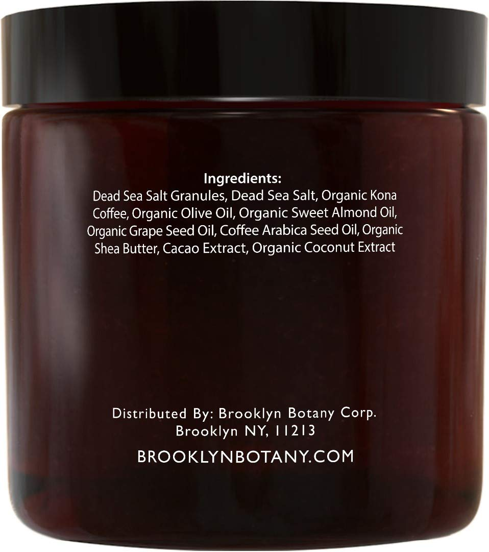 Brooklyn Botany - Arabica Coffee Scrub -100% Natural - with Coconut and Shea Butter - Best Anti Cellulite and Stretch Mark Treatment, Spider Vein Therapy for Varicose Veins & Eczema - 10 oz by Brooklyn Botany (Image #4)