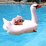 Swim Rings Swan Pool Float-Wishtime HQ17004(2017 New Collection)Pool Floating for Swimming Pool for Babies,Boys,Girls White Swan