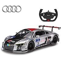 RASTAR Audi RC Car, 1/14 Audi R8 LMS Performance Sports Racing Remote Control Vehicle,Silver New Version
