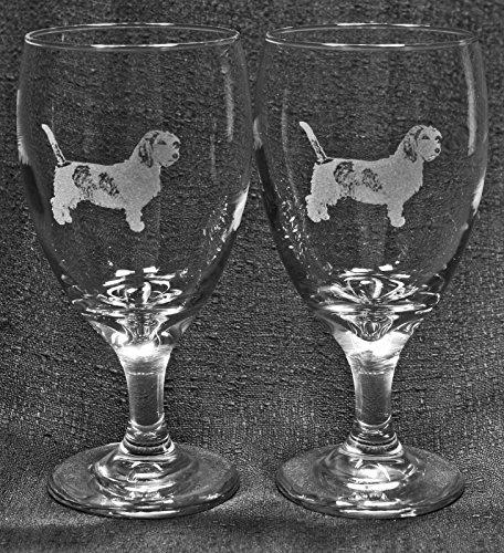 Muddy Creek Reflection Petit Basset Griffon Vendéen Dog Laser Etched Iced Tea Water Goblet Set (2, ITG)