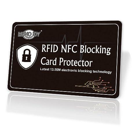 Nfc Karte Kopieren.Monojoy Rfid Nfc Blocker Karte Rfid Blocking Card Nfc
