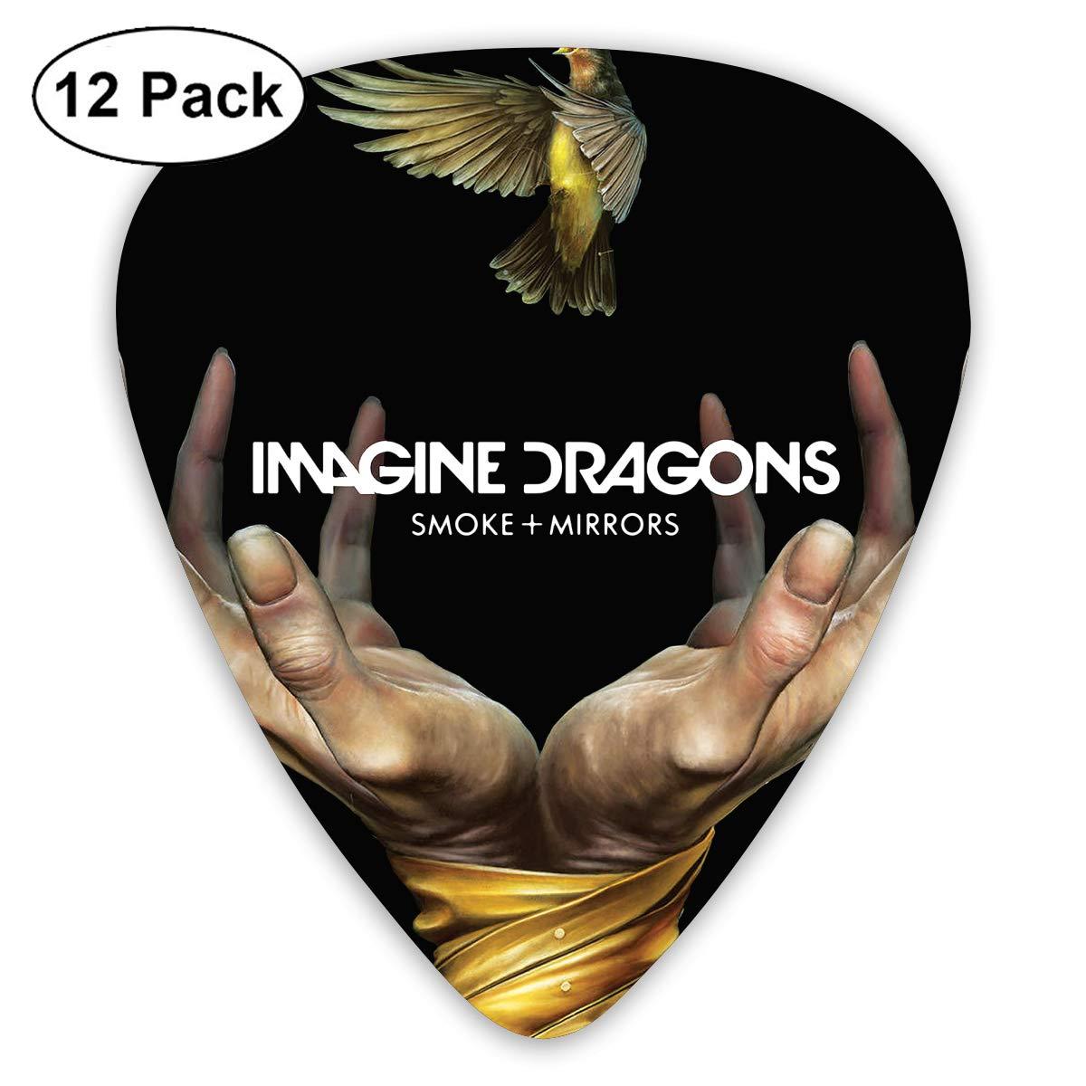 ElijahO Imagine Dragons スモークミラー セルロイドギターピックプレクトラム (12個パック) 電動ギター、アコースティックギター、マンダリン、ギターベース用   B07KQ5XQ94