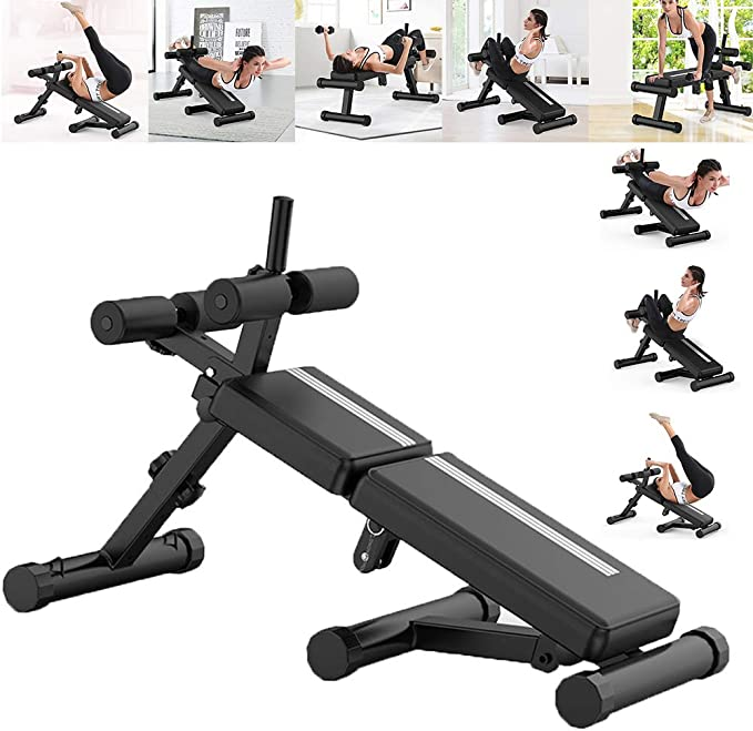Details about  /⚡️Foldable Weight Bench Workout Full Body Decline Incline Adjustable Gym Exercis