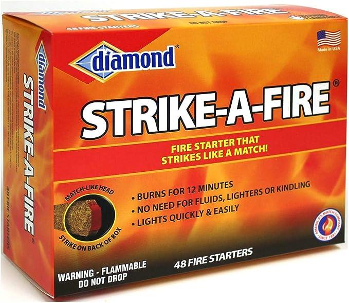 *Choose Order Size* Diamond Strike-A-Fire Starter Match Lot 48 per box