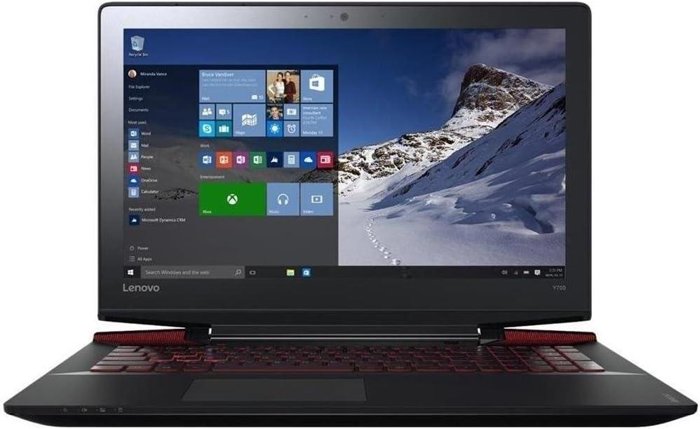 "2018 Lenovo Y700 15.6"" Ultra HD 4K IPS Powerful Gaming Laptop, Intel Core i7-6700HQ 2.6GHz, 16GB RAM, 256GB SSD, Red LED Backlit Keyboard, NVIDIA GeForce GTX 960M 4GB GDDR5, Windows 10"