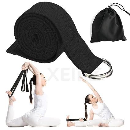 Amazon com : XEMZ Yoga Strap - Cotton Exercise Straps Band