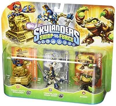 Skylanders SWAP Force Triple Character Pack Mega Ram Spyro Blizzard Chill Zoo Lou