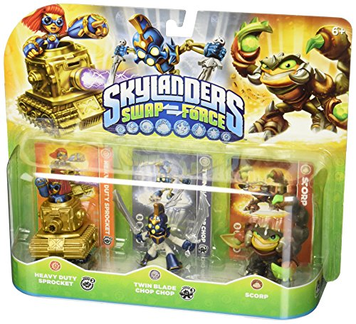 Skylanders SWAP Force Triple Character Pack: Scorp, Twin Blade Chop Chop, Heavy Duty Sprocket -